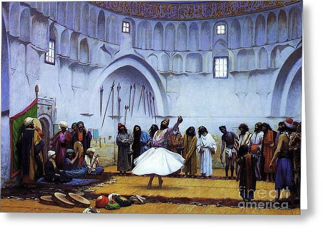 Rememberance Greeting Cards - Whirling Dervishes Greeting Card by Pg Reproductions