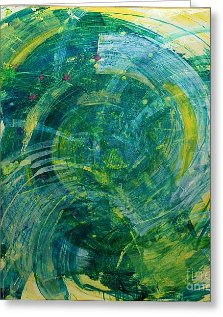 Whirlwind Greeting Card by Annette  Gardiner