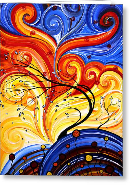 Abstract Style Greeting Cards - Whirlwind by MADART Greeting Card by Megan Duncanson