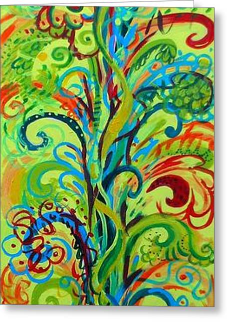 Healing Greeting Cards Greeting Cards - Whirlygig Tree Greeting Card by Genevieve Esson