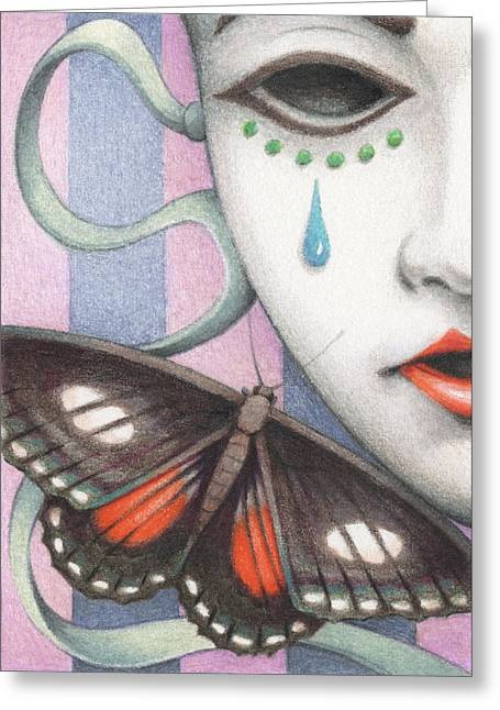 Forboding Greeting Cards - Whisper Of Omens Greeting Card by Amy S Turner