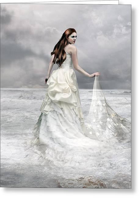 Inertiak Greeting Cards - Whispered Waves Greeting Card by Karen H