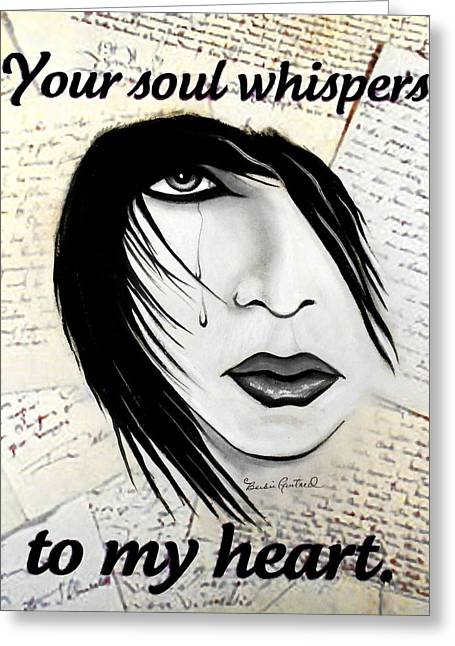 Love Letter Drawings Greeting Cards - Whispering Soul Greeting Card by Barbie Guitard
