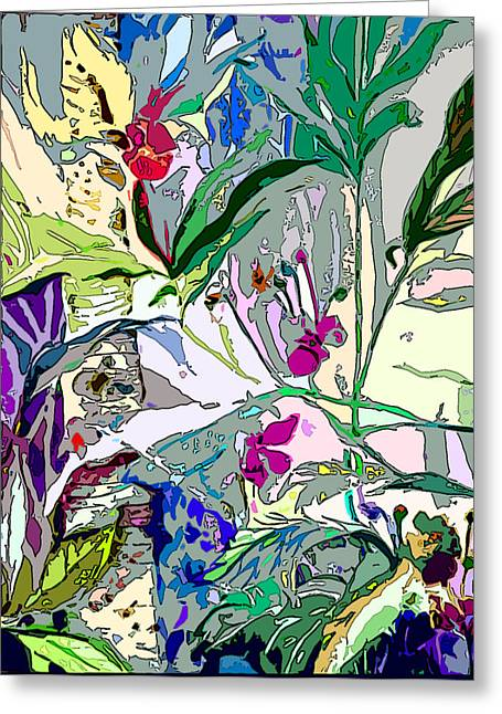 Birch Tree Drawings Greeting Cards - Whispering Wind Flowers Greeting Card by Mindy Newman