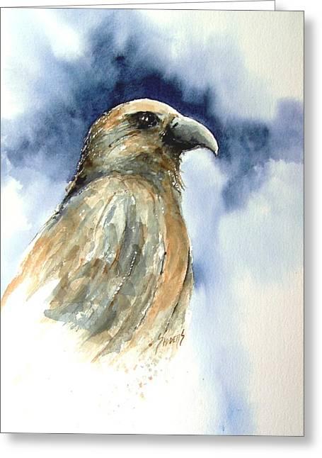 Hawk Birds Greeting Cards - Whistler Greeting Card by Sam Sidders