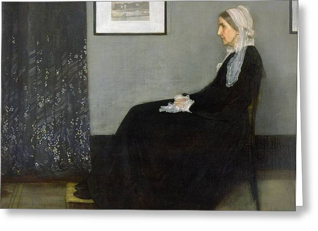 Greys Greeting Cards - Whistlers Mother Greeting Card by James Abbott McNeill Whistler
