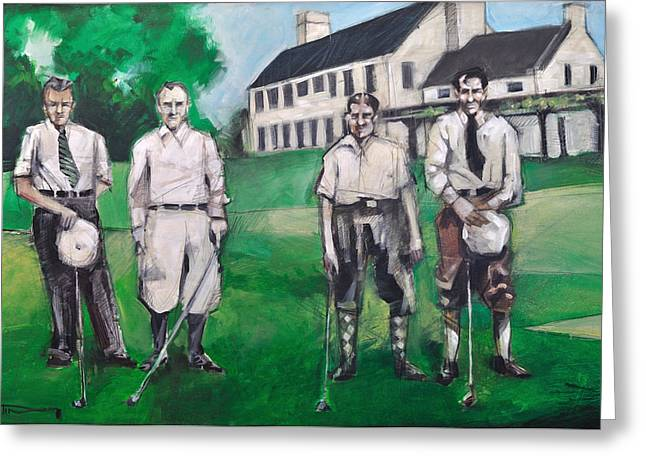 Whistling Straits Greeting Cards - Whistling Straits Boys Greeting Card by Tim Nyberg