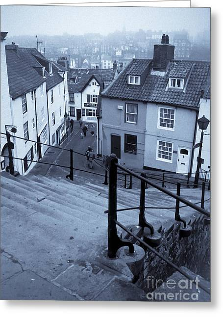 Historic England Greeting Cards - Whitby in a Sea Fret Greeting Card by Gordon Wood
