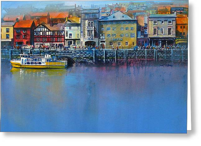 Neil Mcbride Greeting Cards - Whitby St Annes Staith Greeting Card by Neil McBride