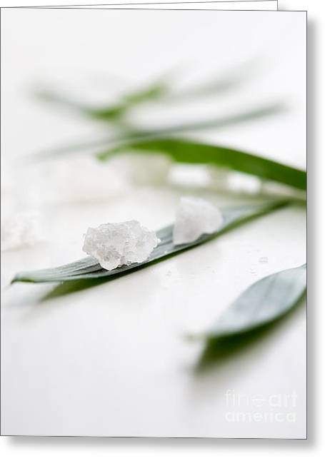 Wellbeing Greeting Cards - White bath salt Greeting Card by Kati Molin