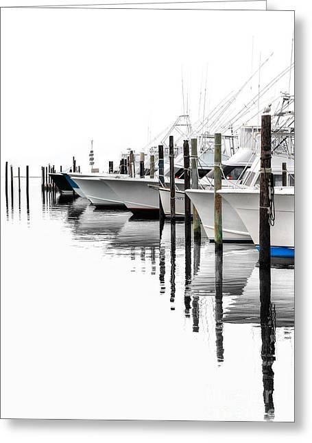 Oregon Artist Greeting Cards - White Boats I Greeting Card by Dan Carmichael
