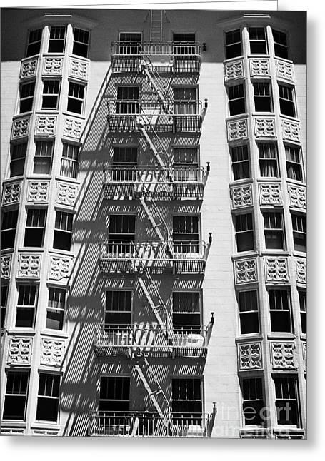 Downtown San Francisco Greeting Cards - White building Greeting Card by Hideaki Sakurai