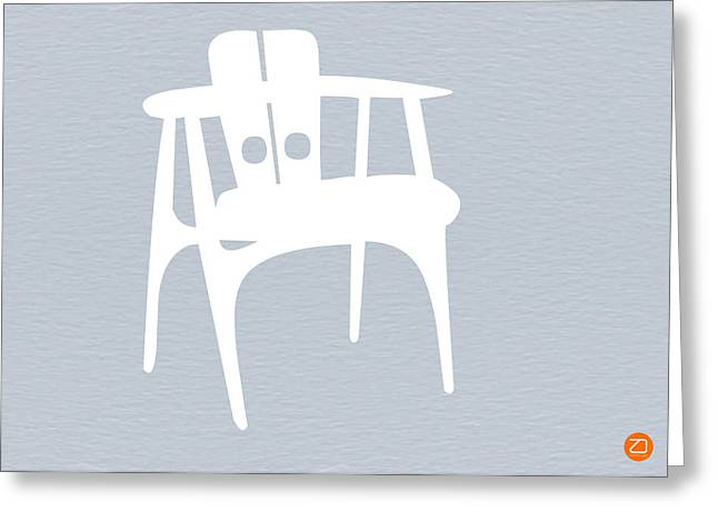 White Chair Greeting Card by Naxart Studio