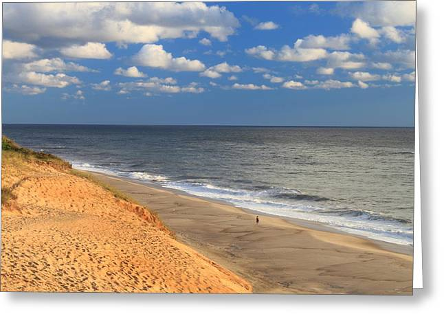 Cape Cod National Seashore Greeting Cards - White Crest Ocean Beach Cape Cod Greeting Card by John Burk