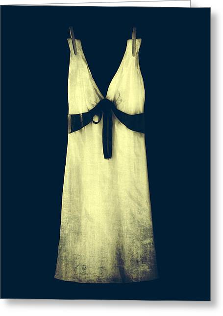 Satin Skirt Greeting Cards - White Dress Greeting Card by Joana Kruse