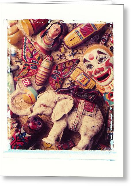 Transfer Greeting Cards - White Elephant Greeting Card by Garry Gay