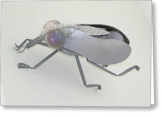 Science Sculptures Greeting Cards - White Fly Greeting Card by Michael Jude Russo