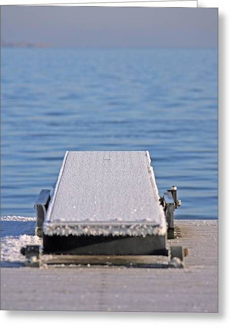 Diving Board Greeting Cards - White Frost Diving Board Greeting Card by Ralf Kaiser