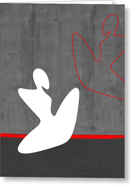 Sophisticated Woman Greeting Cards - White Girl Greeting Card by Naxart Studio