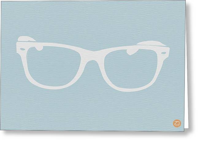 Old Digital Greeting Cards - White Glasses Greeting Card by Naxart Studio