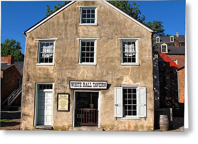 Harper Hall Greeting Cards - White Hall Tavern Harpers Ferry Virginia Greeting Card by Dave Mills