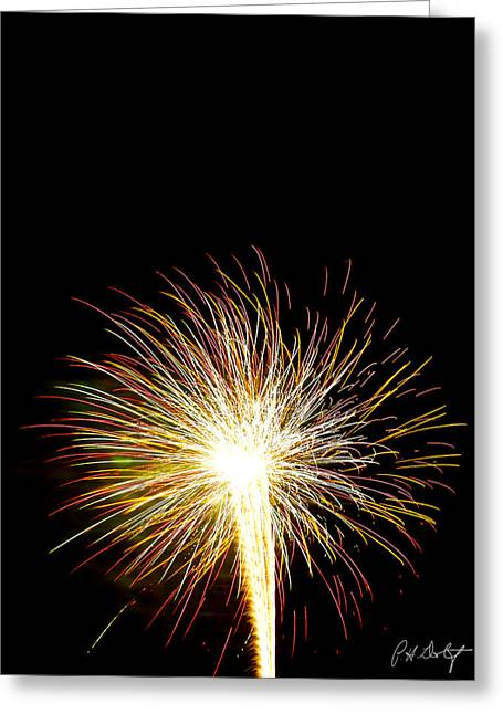 4th July Digital Art Greeting Cards - White Hot Greeting Card by Phill  Doherty