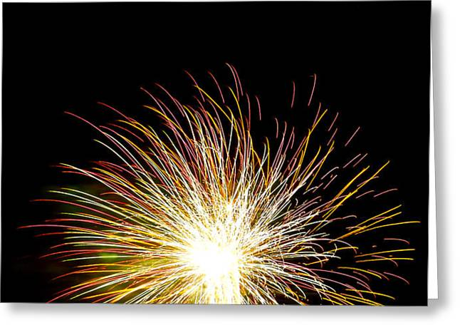 White Hot Greeting Card by Phill  Doherty