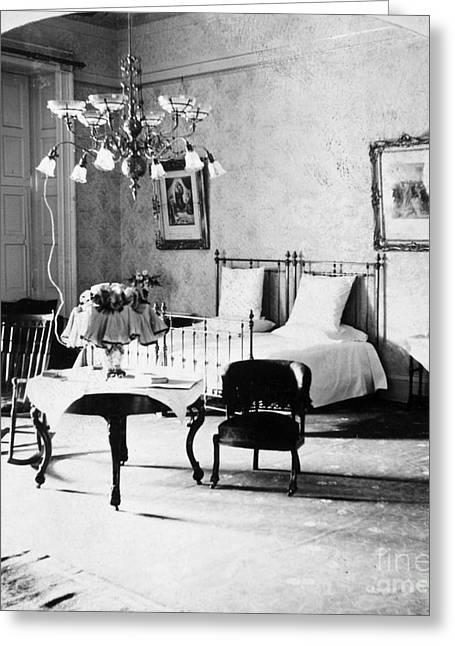 First-lady Greeting Cards - White House Bedroom, 1898 Greeting Card by Granger