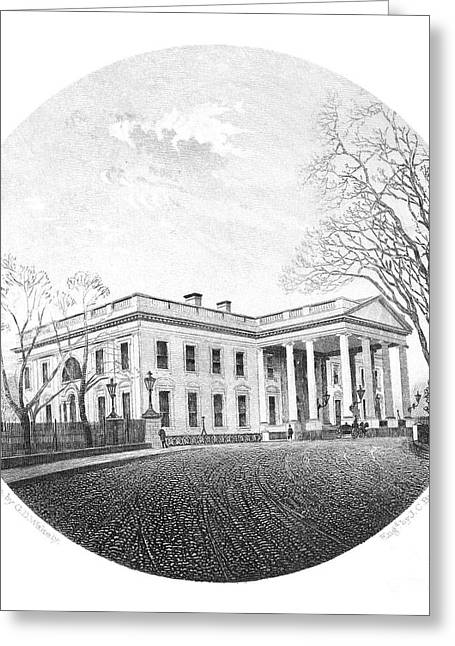 1880s Greeting Cards - WHITE HOUSE, c1880s Greeting Card by Granger