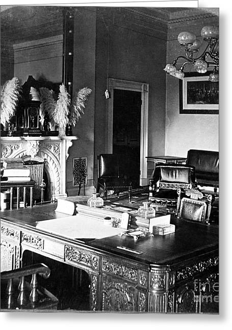 The White House Photographs Greeting Cards - White House Office, 1906 Greeting Card by Granger