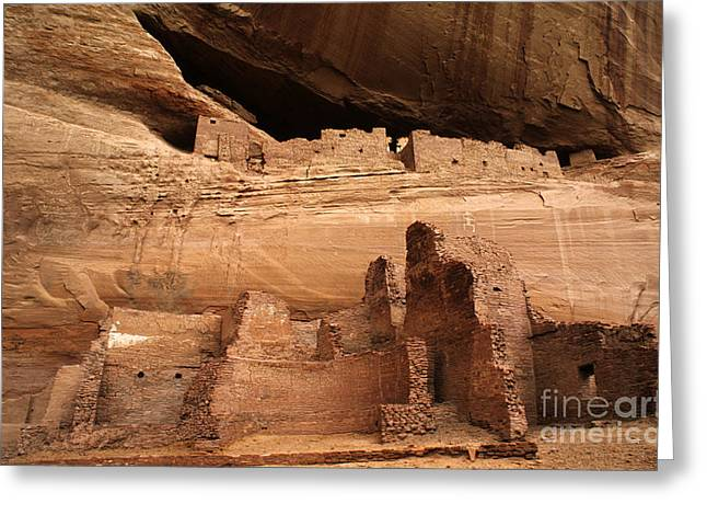 Historical Buildings Greeting Cards - White House Ruin Canyon De Chelly Greeting Card by Bob Christopher