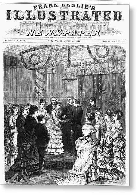 Presidents Wives Greeting Cards - White House Wedding, 1874 Greeting Card by Granger