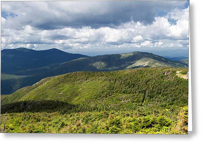 Lake House Greeting Cards - White Mountains New Hampshire Panorama Greeting Card by Stephanie McDowell