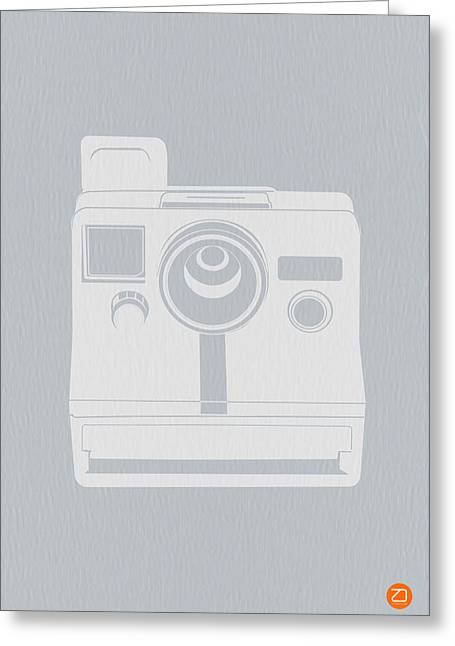 Furniture Greeting Cards - White Polaroid Camera Greeting Card by Naxart Studio