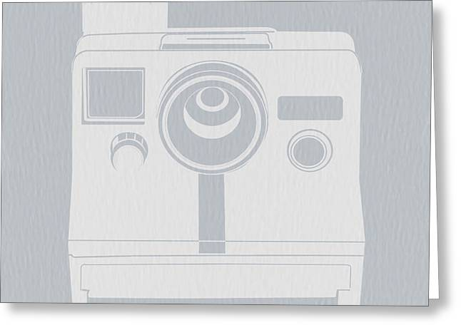 White Polaroid Camera Greeting Card by Naxart Studio