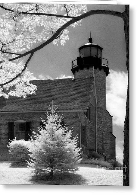 Jeff Holbrook Greeting Cards - White River Station Lighthouse Greeting Card by Jeff Holbrook