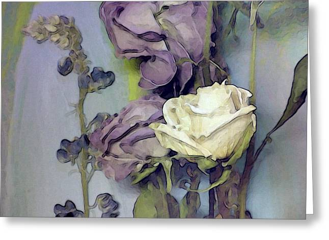 Visionary Artist Greeting Cards - White Rose Greeting Card by George  Page