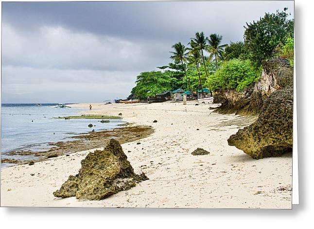 Filipino Arts Greeting Cards - White Sand Beach Moal Boel Philippines Greeting Card by James BO  Insogna