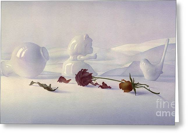 White still life Greeting Card by Svetlana and Sabir Gadzhievs