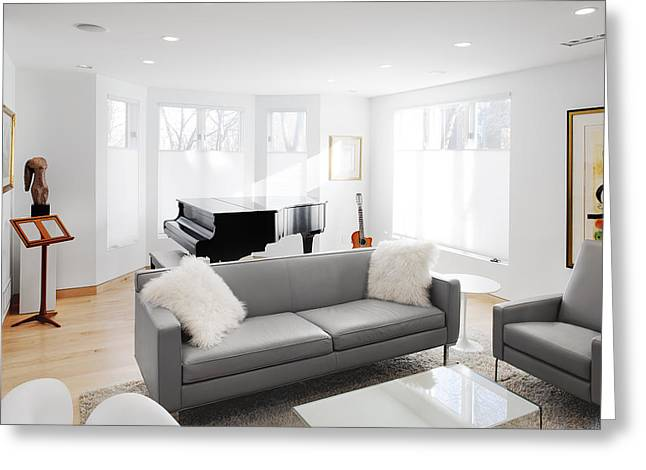 Window Of Life Greeting Cards - White Walls And Neutral Decorating Greeting Card by Christian Scully