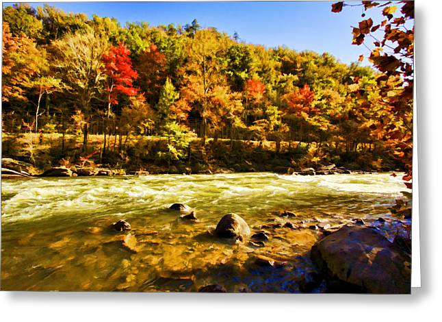 Tennessee River Greeting Cards - White Water Greeting Card by Paul Bartoszek