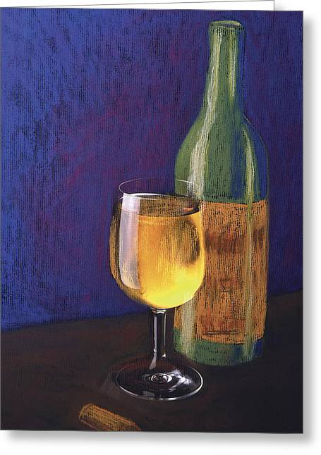 White Wine Greeting Card by Garry McMichael