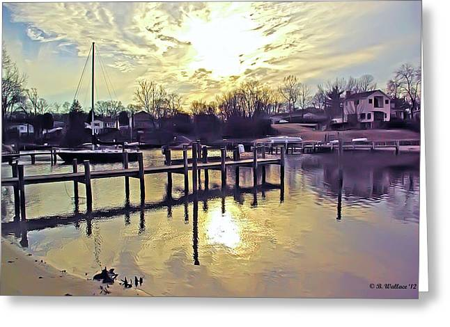 White's Cove In Winter Greeting Card by Brian Wallace