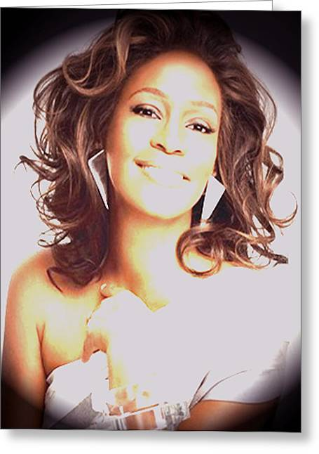 Whitney Houston Song Bird No. 3 Greeting Card by De Beall
