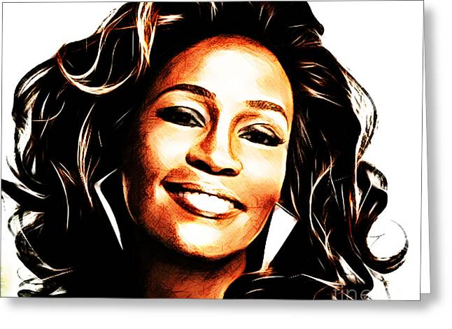 Rnb Greeting Cards - Whitney Houston Greeting Card by The DigArtisT