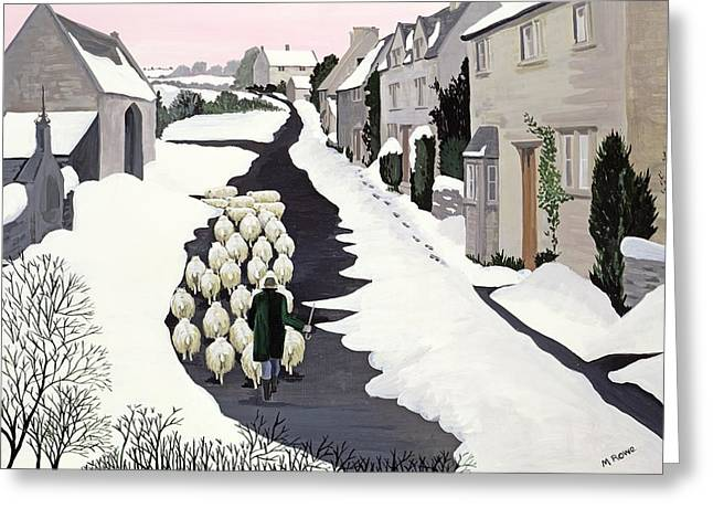 Tow Greeting Cards - Whittington in winter Greeting Card by Maggie Rowe