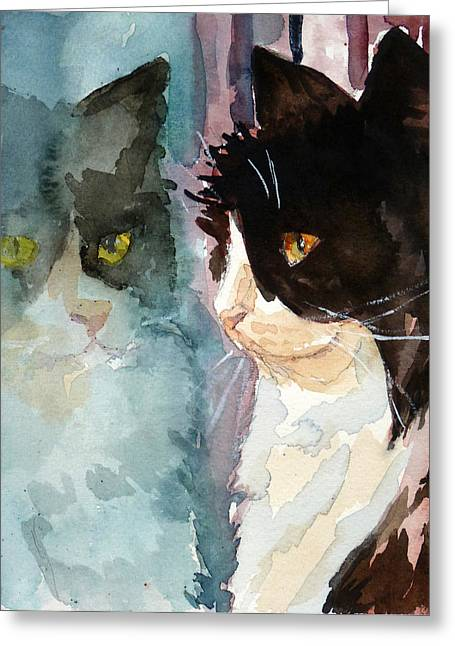 Who Are You Greeting Card by P Maure Bausch