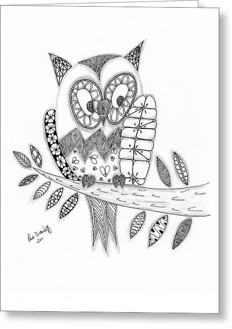 Paula Dickerhoff Greeting Cards - Who Says the Owl Greeting Card by Paula Dickerhoff