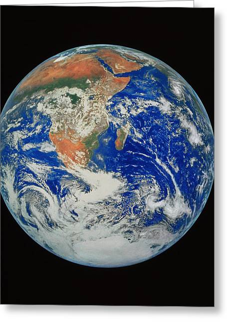 Planet Earth Greeting Cards - Whole Earth Greeting Card by