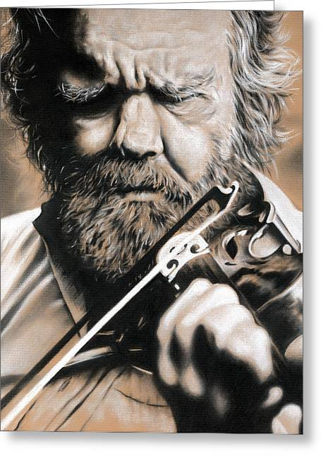 Old Man With Beard Greeting Cards - Whole Life for Music Greeting Card by Natasha Denger